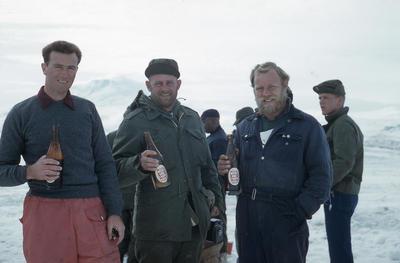 Slide: Men at Scott Base