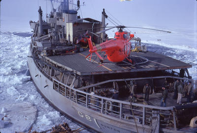 Slide: Icebreaker and Helicopter