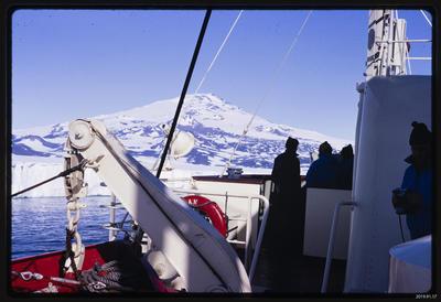 Slide: Mt Erebus from the Magga Dan, 1968