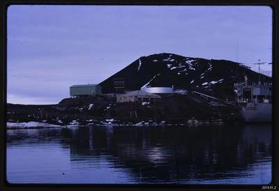 Slide: Discovery Hut and McMurdo Station; 1968; 2019.91.2