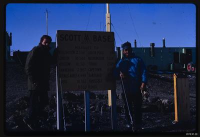 Slide: Scott Base Sign, 1968