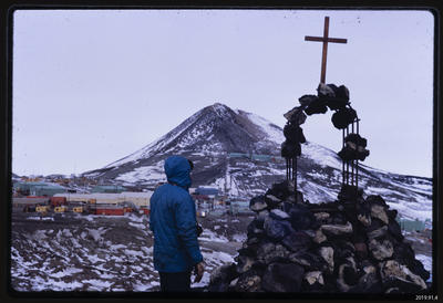 Slide: Memorial at McMurdo Station; 1968; 2019.91.4
