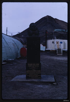 Slide: Byrd Memorial at McMurdo Station; 1968; 2019.91.5