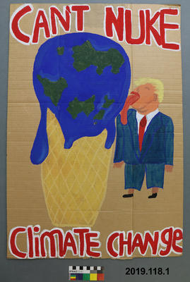 Protest Sign: Climate Change; 2019; ; 2019.118.1