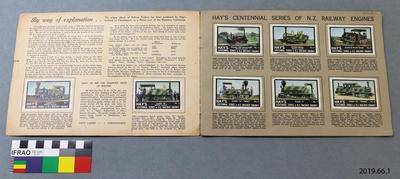 Hay's Poster Stamp Album of New Zealand Railway Engines 1840-1940