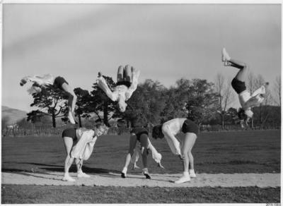 Photograph: Buckett's Gym Somersaults; ; 2019.108.6