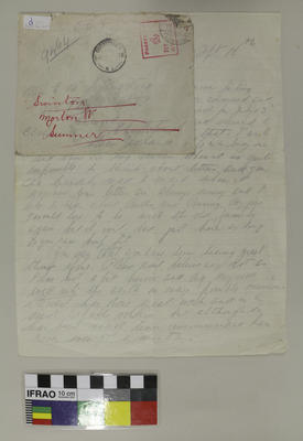 Letter: Donald Dobson to Ethel Livingston