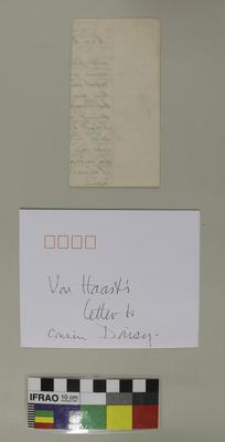 Letter: Heinrich von Haast