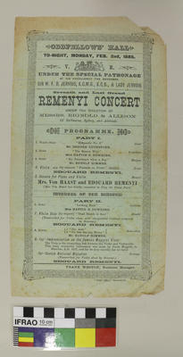 Flyer: Remenyi Concert
