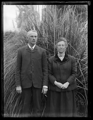 Glass Plate Negative: Mr and Mrs Wilding Silver Wedding