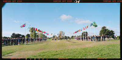 Negative: Golf Course Flags Panorama
