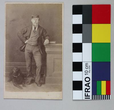 Photograph: Man and Dog