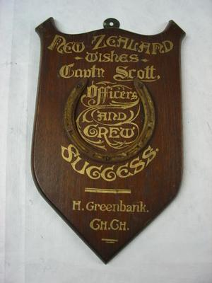 Plaque: Shield; 1909-1910;