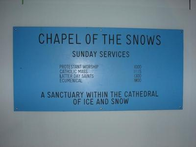 Sign: Chapel of the Snows