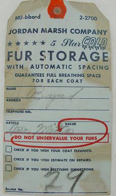 Label: Fur Storage; 2005.42.3