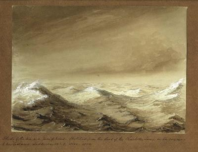 Painting: Study of the Sea in a Gale of Wind