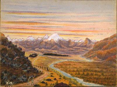 Painting: Burkes Pass