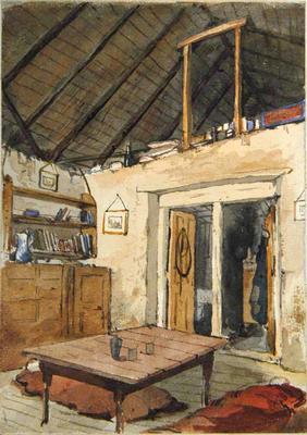 Painting: Mesopotamia, Old Hut