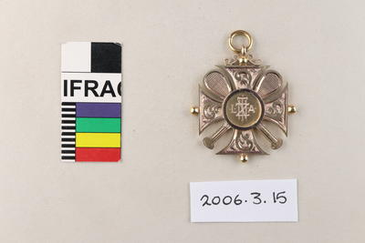Medal: New Zealand Lawn Tennis Association Combined Championship Doubles 1909
