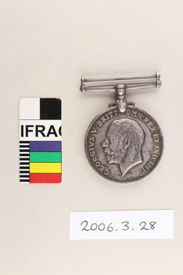 Medal: British War Medal 1914-20; 1920; 2006.3.28
