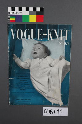 booklet, knitting pattern: Vogue-knit magazine, No.85, baby knitting patterns.