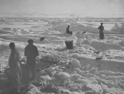 Photograph: Watering Ship from Sea Ice