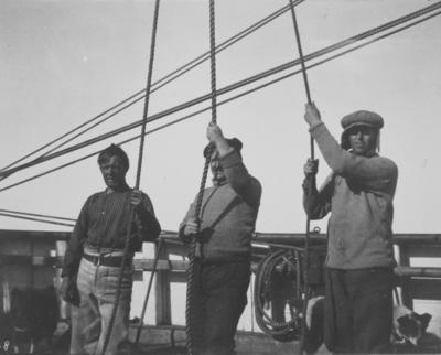 Photograph: Hauling Ice on Board