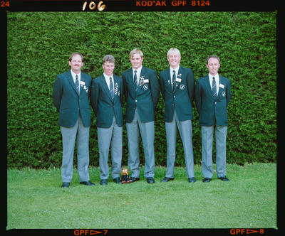 Negative: Five Men World Amateur Golf Championships 1990