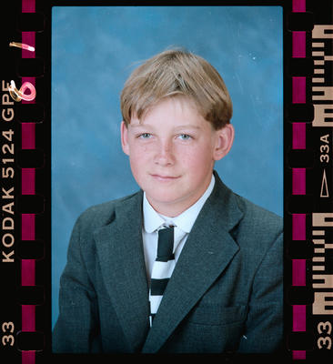Negative: Christ's College 1st Year Student 1991