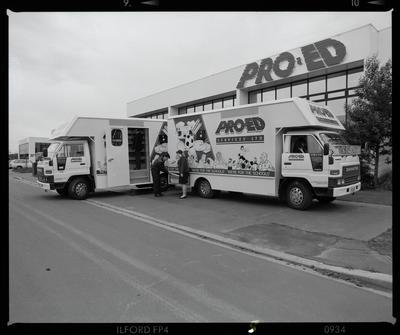 Negative: Two Pro Ed Trucks