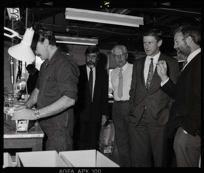 Negative: Five Men At G.G.H. Factory