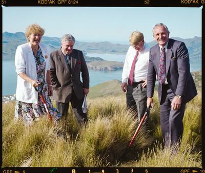 Negative: Three Men And Vicki Buck Port Hills