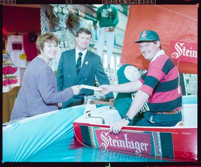 Negative: Steinlager Promo Boat In Pool