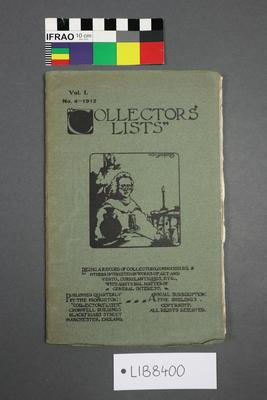 Book: Collectors' Lists