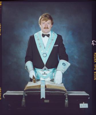 Negative: Neil Olssen Freemason Portrait