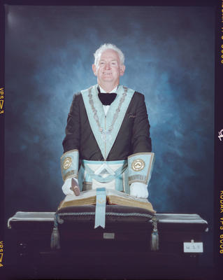 Negative: Evan Roberts Freemason Portrait