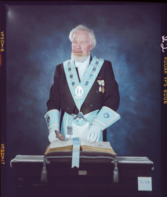 Negative: Harold Whitfield Freemason Portrait