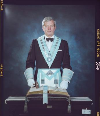 Negative: Colin Taylor Freemason Portrait