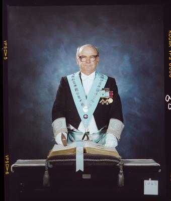 Negative: Ivan Gundersen Freemason Portrait