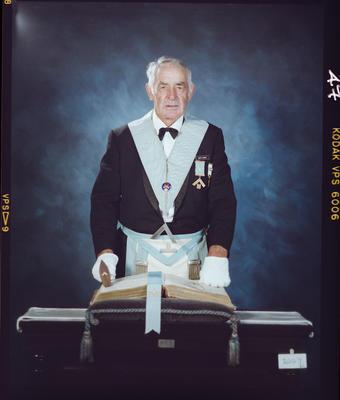 Negative: Bert Cleeve Freemason Portrait