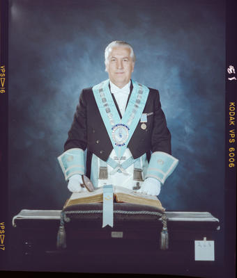 Negative: Fred Murray Freemason Portrait