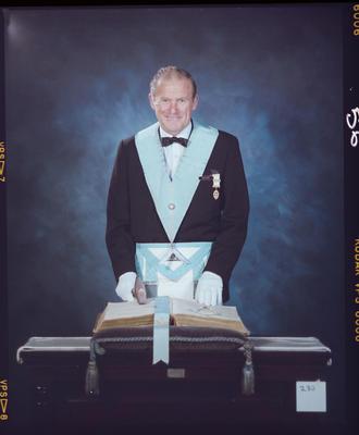 Negative: Jack Payne Freemason Portrait