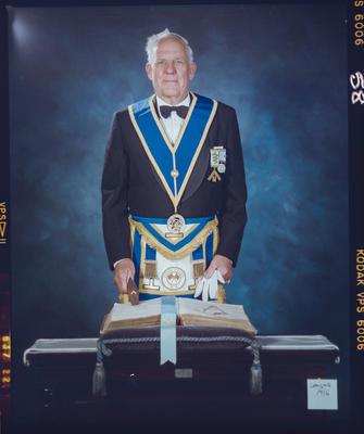 Negative: Lloyd Clayton Freemason Portrait