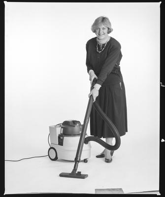 Negative: Woman With Thomas Vacuum