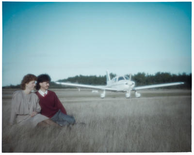 Negative: Leah Grafton and Man With Plane