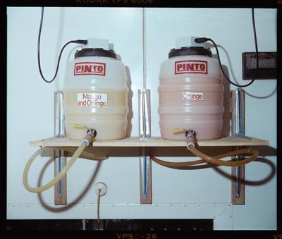 Negative: Pinto Juice Dispenser Kegs