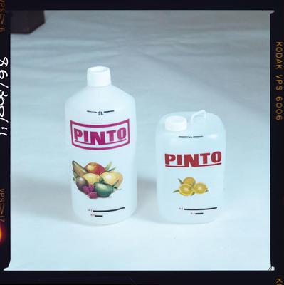 Negative: Pinto Juice Bottles