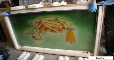 Painted Glass Panel: Roley's Milk Bar