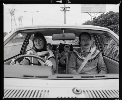 Negative: Bascand Family In Car