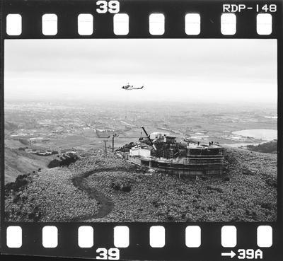 Negative; Helicopter Over Mt Cavendish Gondola